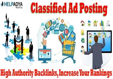 I will do 25 Classified ad posting Backlinks on High DA Website