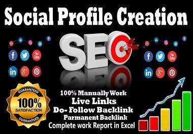 I will create 40 social media profiles or profile backlinks