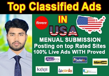 I will provide 50 classified ad posting on high usa ad site