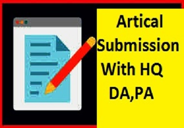 Provide 30 Dofollow Article Submission Backlinks With High Quality DA, PA