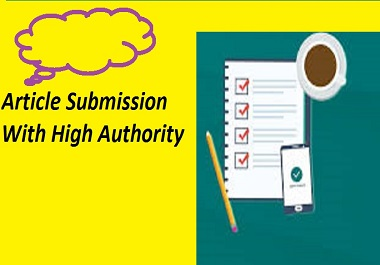 Provide 30 Article Submission Backlinks With High Quality DA, PA