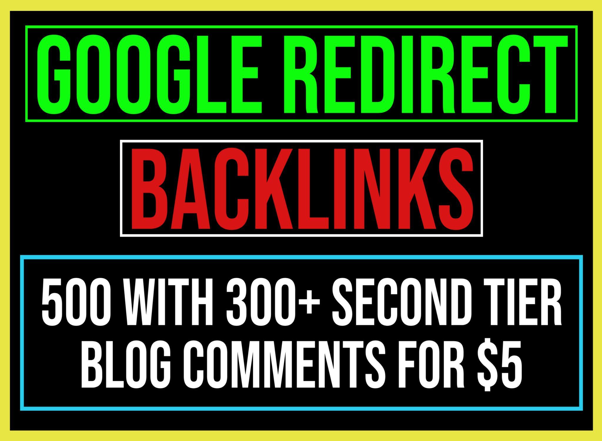 500+ Google Redirect Dofollow Backlinks