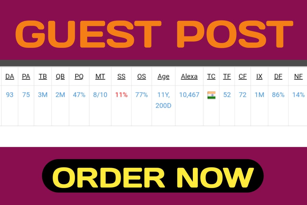 Do give you guest post SEO backlink on DA90+ PA70+ website