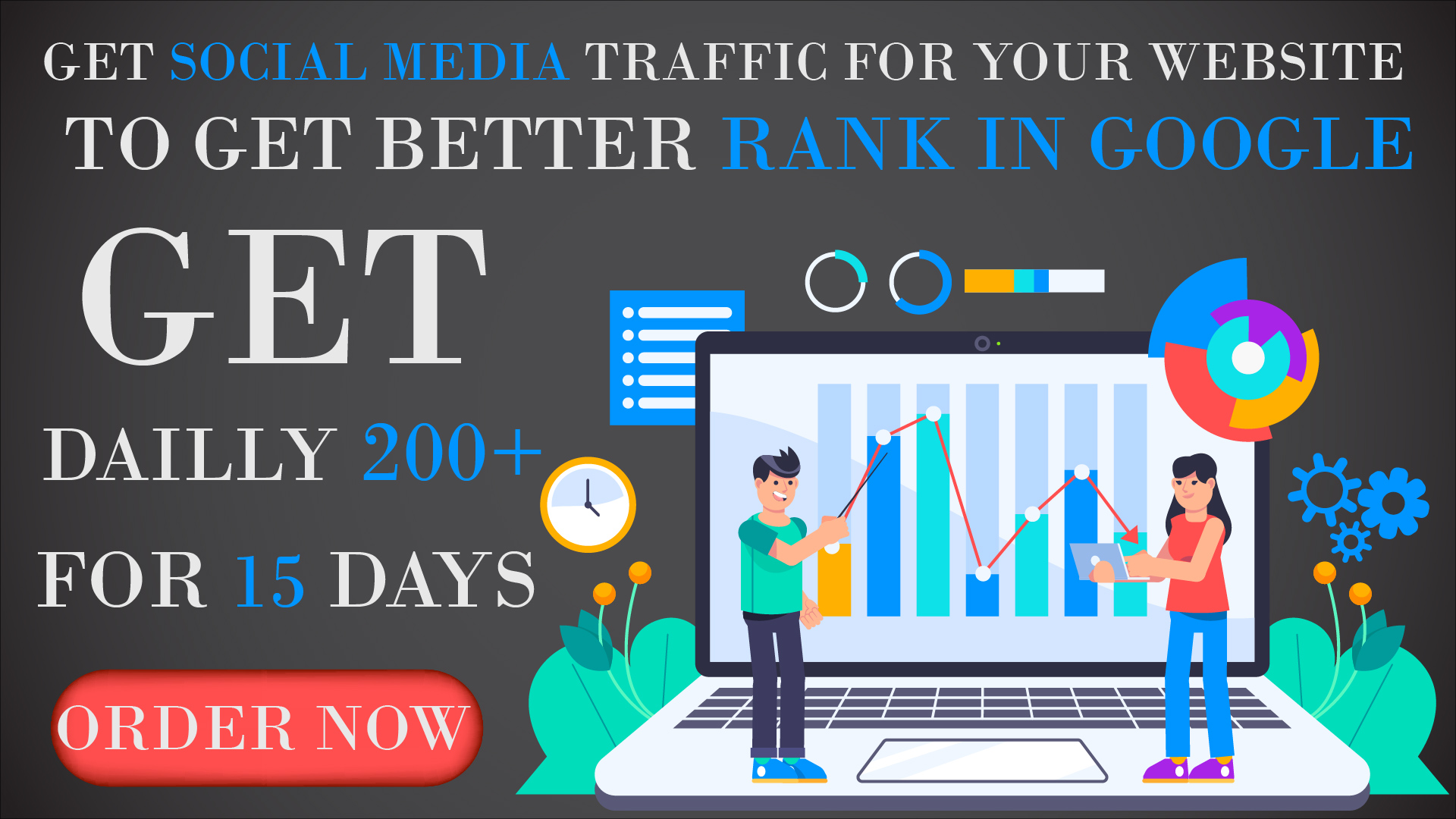 Steal traffic of your competitors,  Google Organic Traffic And Social Media Traffic USA/UK/Canada