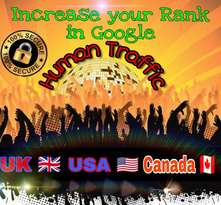We will Drive Keyword Targeted,  Organic UK,  USA,  Canada Traffic To your Site