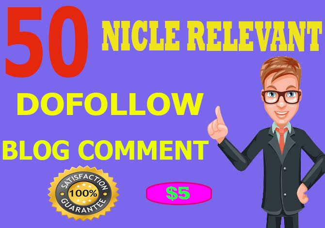 do 50 Nicle Dofollow blog comment Profile Backlinks