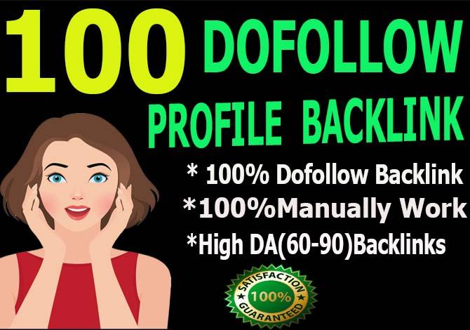 Carete manually 100 Pr9 and DA90 Dofollow Profile Backlinks