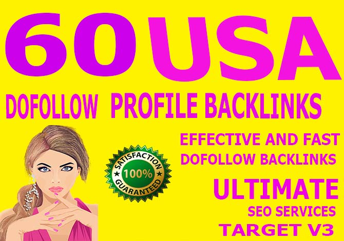 Carete manually 50 usa Dofollow Profile Backlinks
