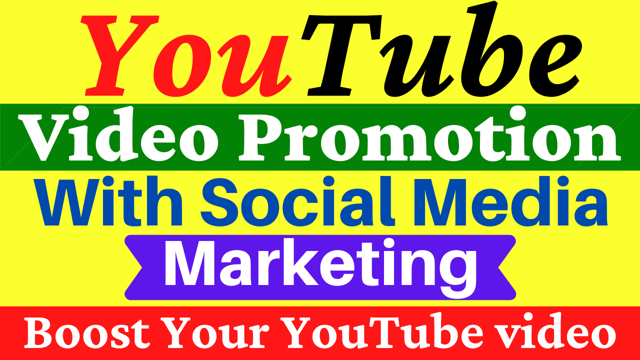 YouTube Video Promotion with Social Media Marketing All In One Service Boost Your Video Ranking
