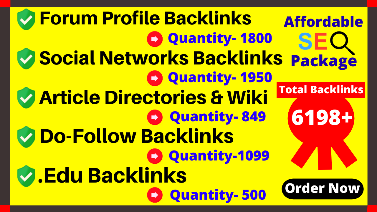 Provide You 6198+ Do-Follow, . Edu,  Wiki Article directories,  Forum,  Social & Mix platforms Backlinks