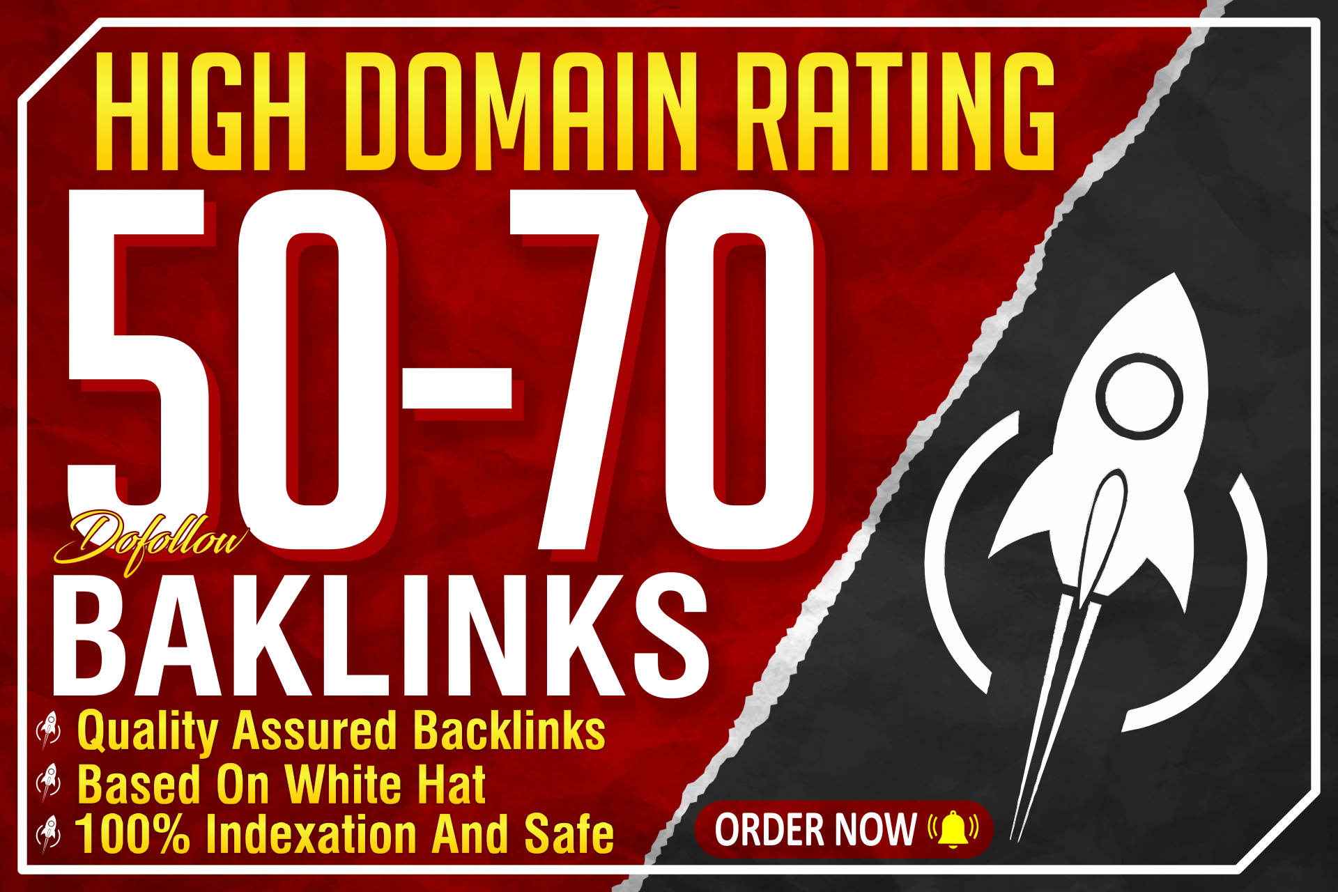 Get 100 high domain rating DR 50 plus dofollow backlinks