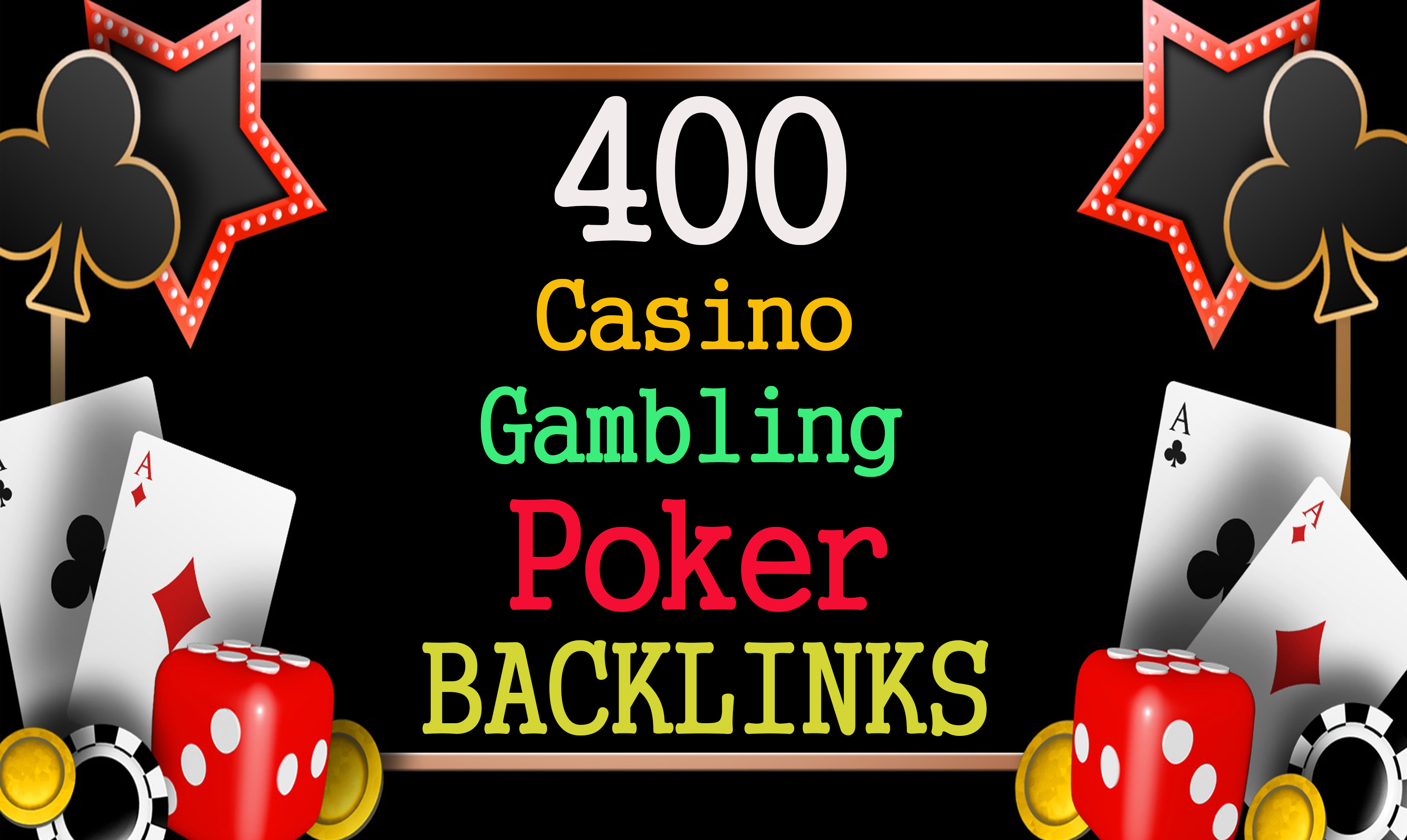I will manually create high quality 400 DA 50 CASINO GAMBLING POKER PBN backlinks