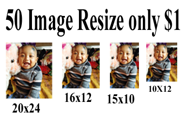 i can do 50 image resize with high quality