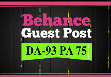 I will do guest post on behance. Com
