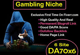 60 CASINO/POKER Gambling,  Judi Bola,  Google 1st Page Ranking & Relate PBN Backlink with BLOG POST
