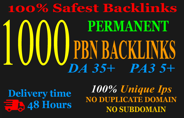 Build premium 1000+ PBN Backlink homepage web 2.0 with permanent dofollow Trustfollow for 90