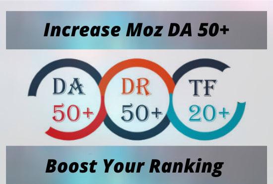 increase moz domain authority,  0 moz da to 50 da,  safe boost