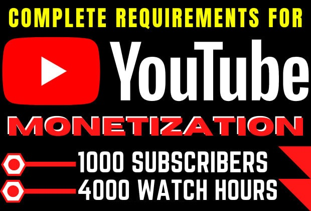 Get youtube monetization Service with and Guarantee
