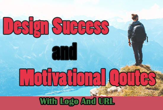 design Success and Motivational Quotes with logo and URL