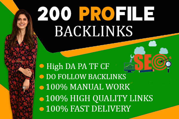 I will create high authority white hat manual profile links for fast google ranking