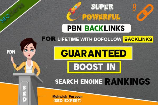 I will create 5 powerful do follow homepage pbn SEO back links