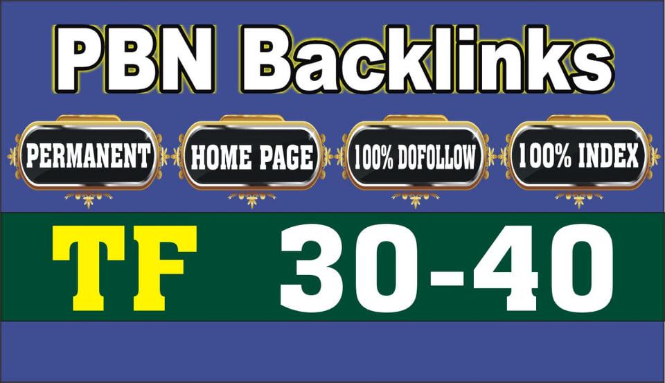 I will make 5 high tf cf permanent homepage dofollow backlinks