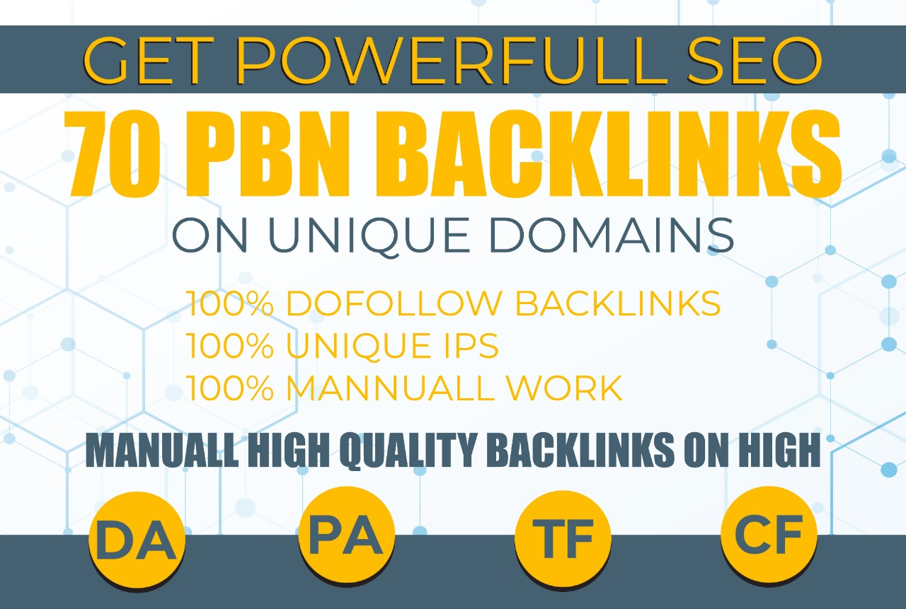 DO 70 SEO HIGH QUALITY DOFOLLOW BACKLINK FOR WEBSITE RANKING