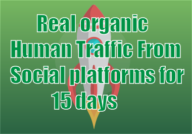 Real organic Human Traffic From Social platforms for 15 days