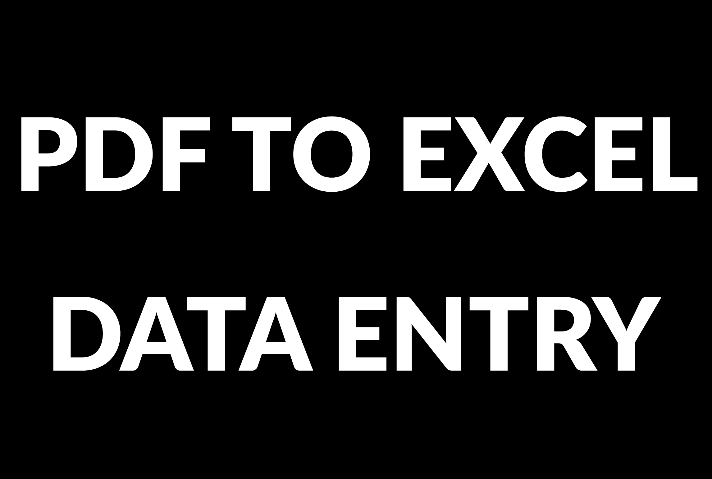 I will do data entry,  web search,  pdf to excel