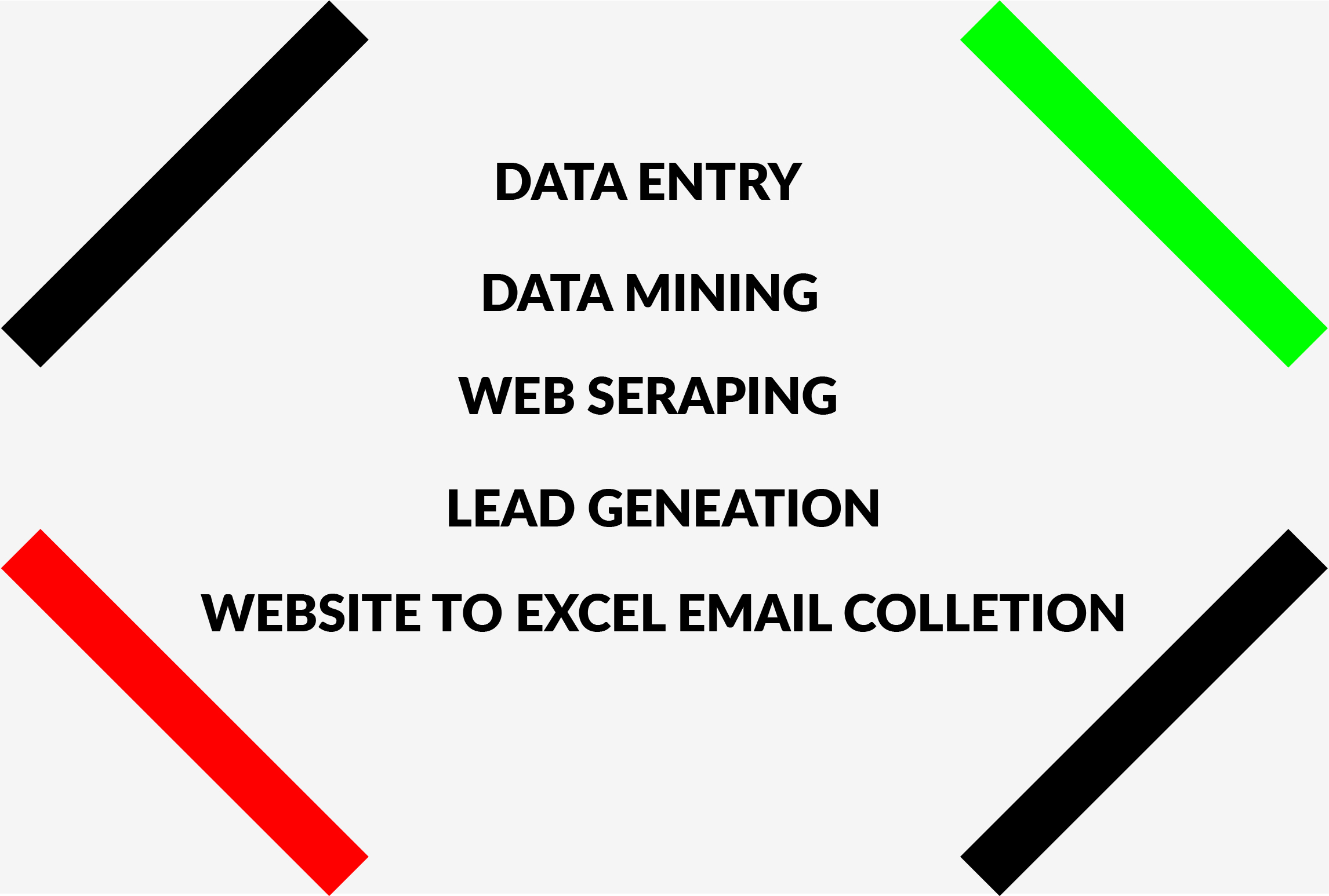 I will do email extraction,  data mining,  web research,  targeted lead generation