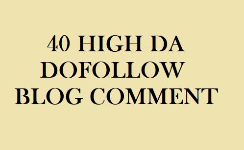 40 dofollow blog comment backlinks