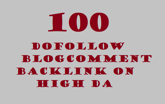 I will do 100 blogcomment dofollow backlink Da 40+