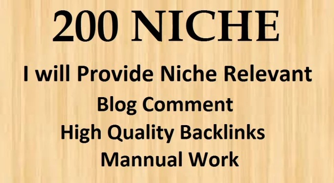 200 Niche Relevant blog Comments With low obl