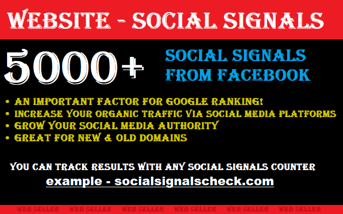 5000+ Social Signals for your Website - Share over Social Media Networks - Gain Real Traffic