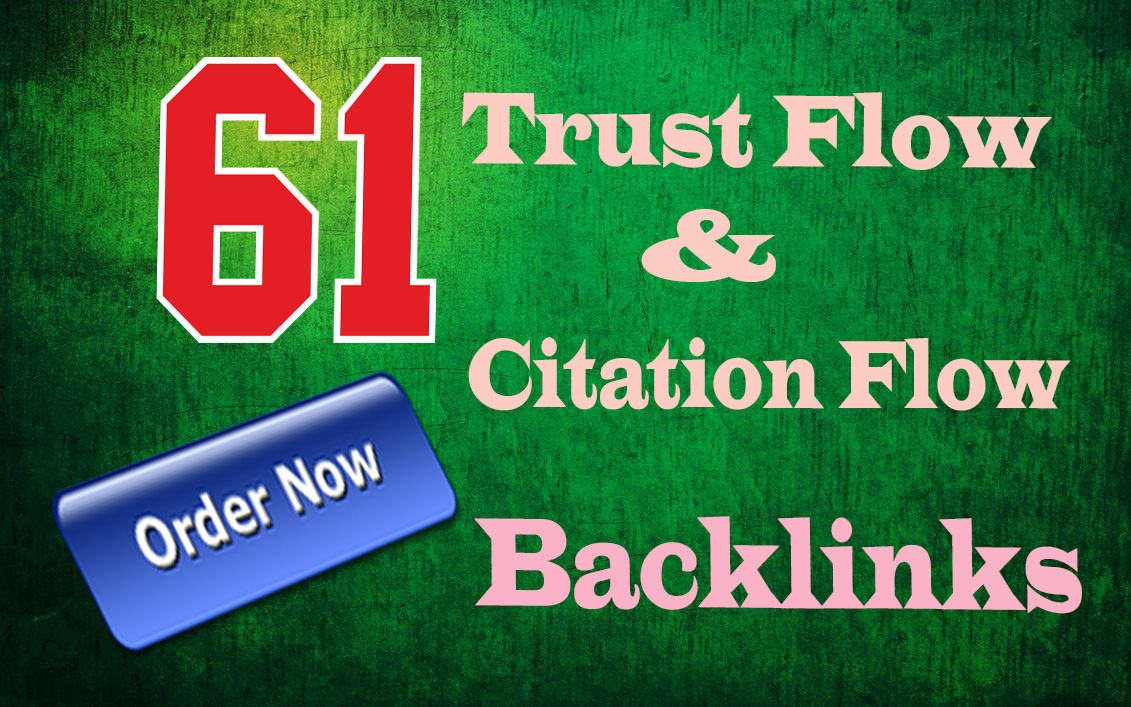 I will do 61 High Trust flow and Citation flow seo backlinks on high da