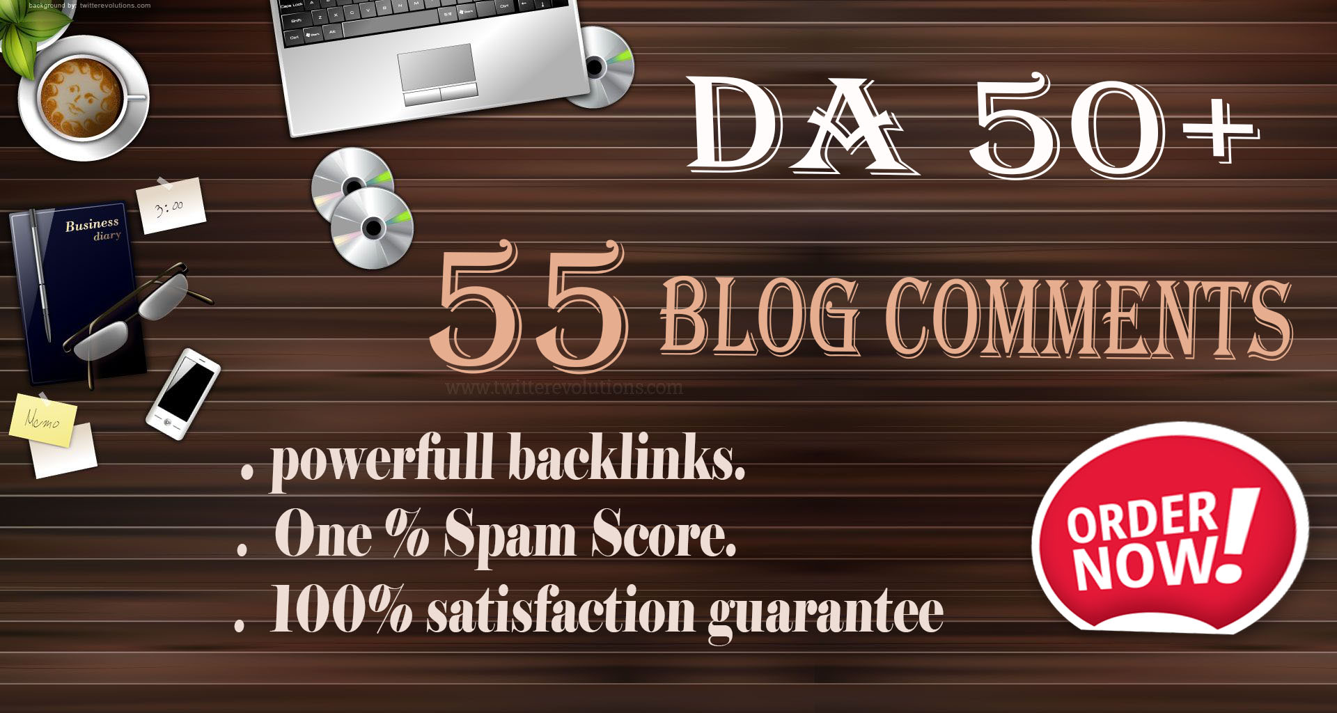 I will do 55 powerful Blog Comments Backlinks Domain Authority DA 50+ Off Page Seo