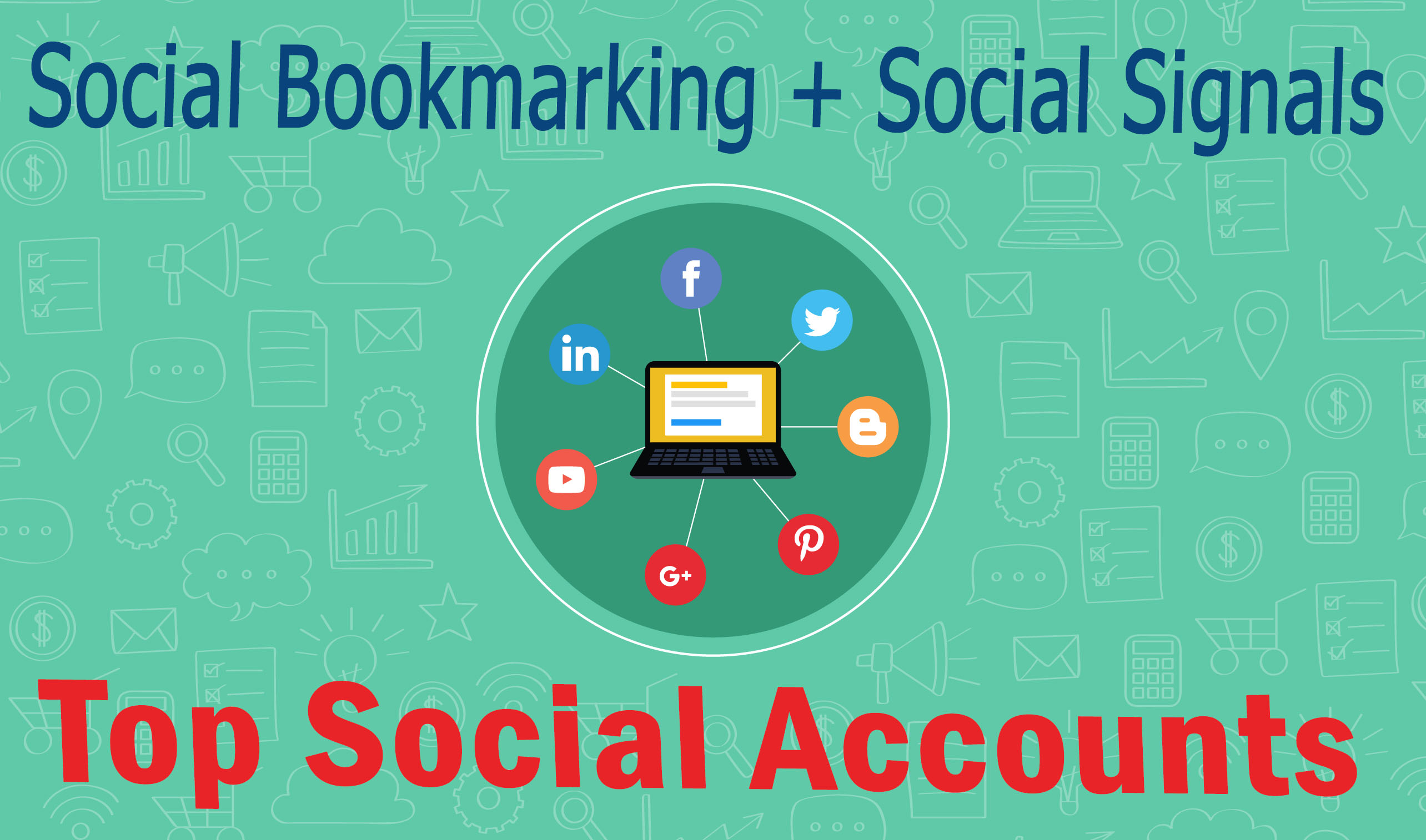 Get Bookmark Your Site On Top 20 Social bookmarking sites + 40 Social Signals