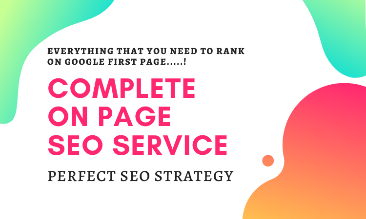 Complete On Page SEO and Technical On Page Optimization to Boost your Rankings