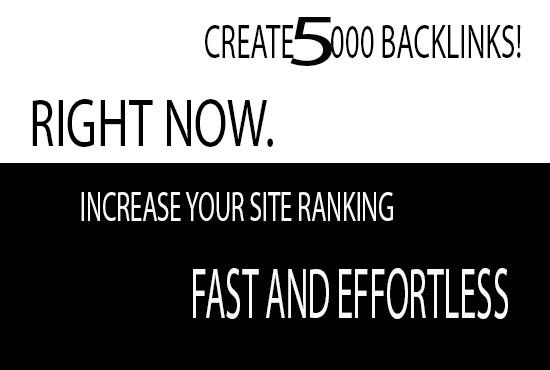 5000 High Quality Do-Follow Backlinks