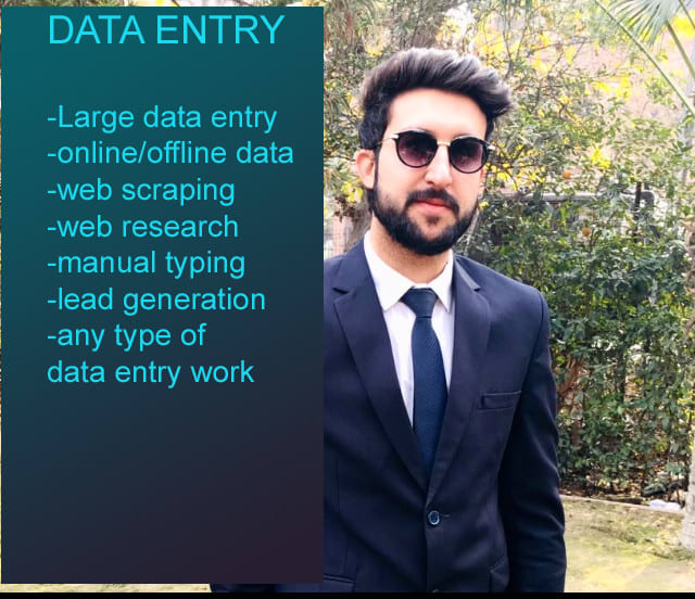 Data entry,  web research and copy paste
