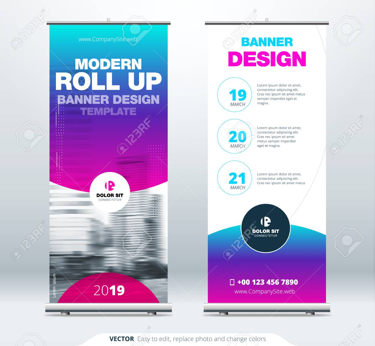 I will create a roll up banners,  pull up banners for your business
