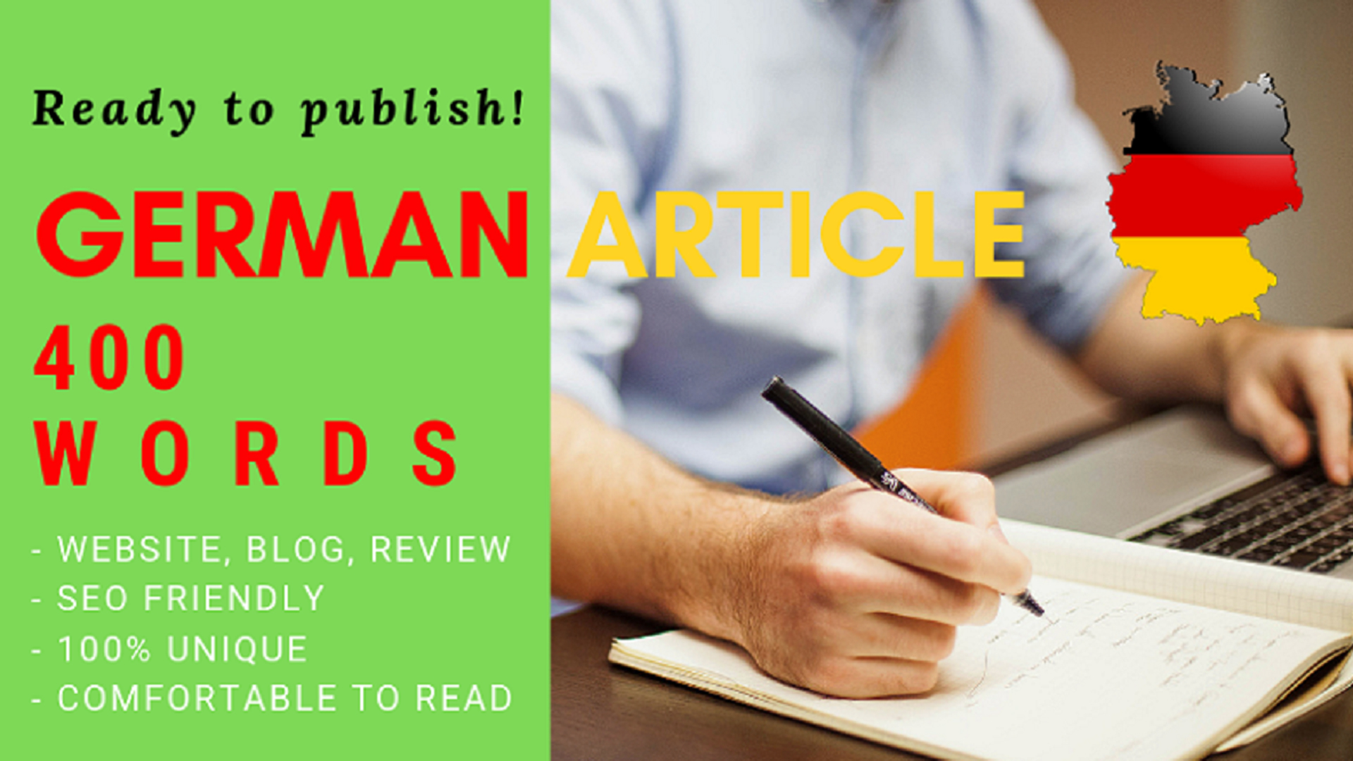 Write German article within 400 words or more