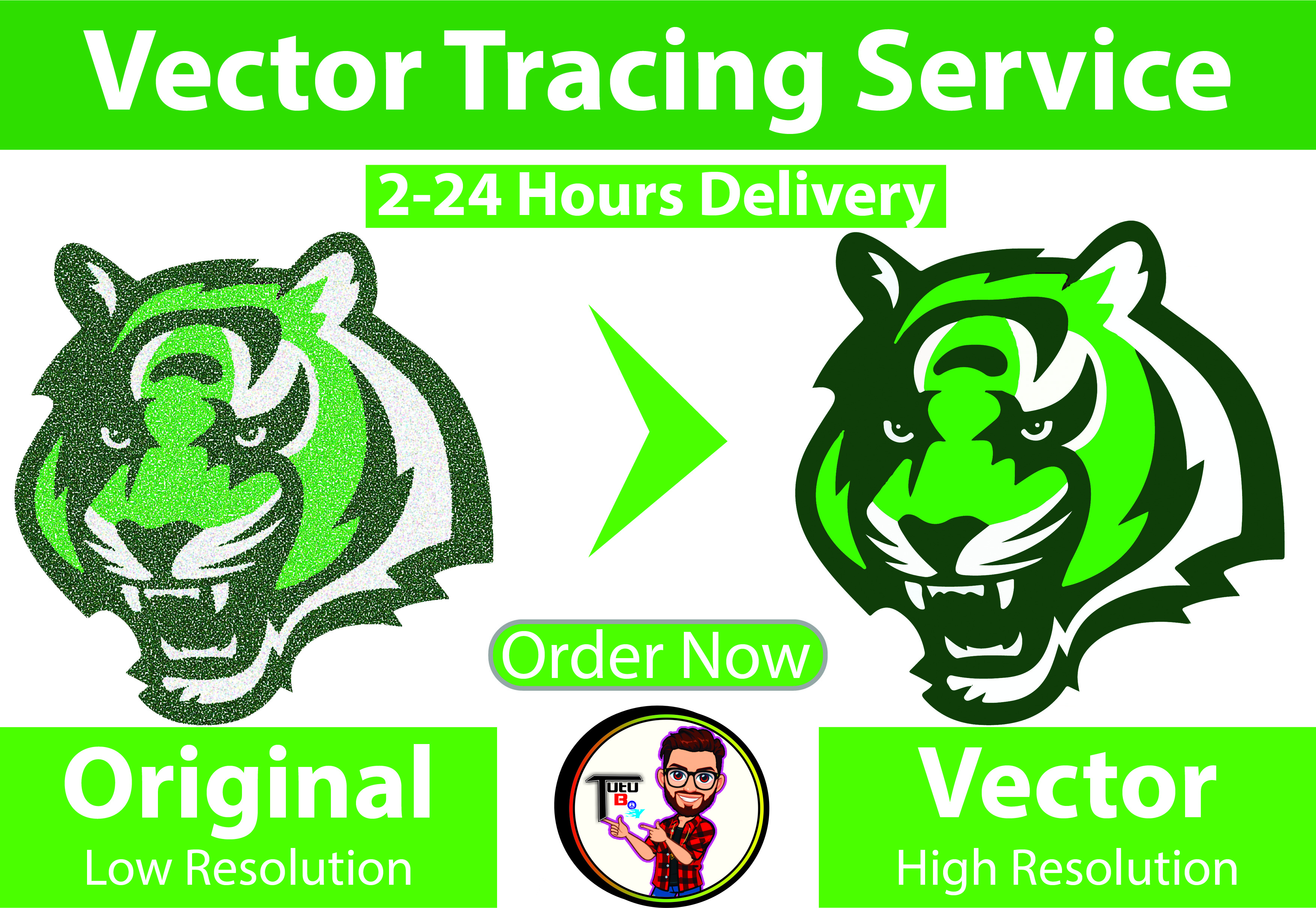 convert logo to high quality vector tracing 20 hours