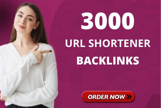 build 3000 URL shortener backlinks to boost your ranking