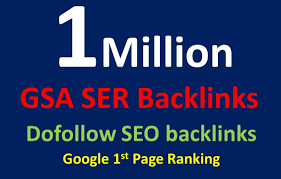 I will do 1 million high quality SEO backlinks to boost your ranking