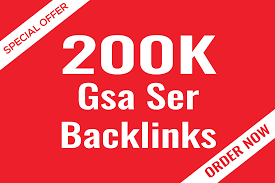 I will create 200,000 gsa ser backlinks for google top ranking