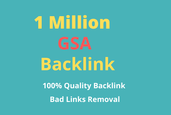 I will build 10, 00,000 gsa dofollow backlinks for website ranking