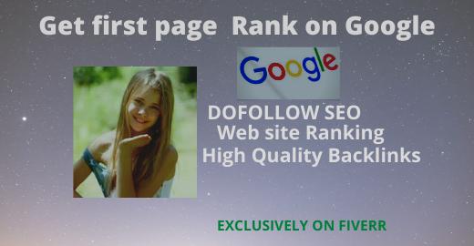 I will create SEO best dofollow backlinks for google ranking