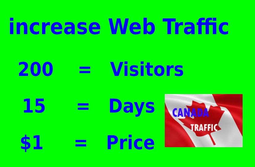 Drive unlimited traffic CANADA to your site,blog or product