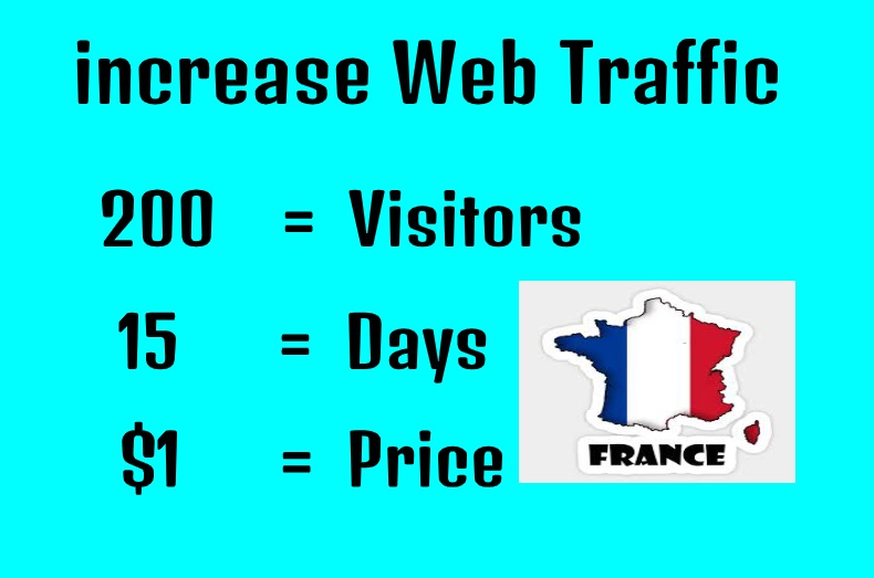 Drive unlimited traffic from FRANCE to your site & blog or product